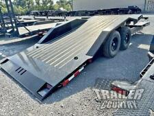 New 8 X 22 14k Heavy Duty Low Profile Tilt Deck Flat Bed Equipment Car Trailer