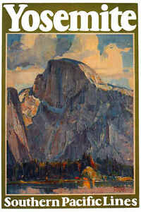 VINTAGE-YOSEMITE-SOUTHERN-PACIFIC-LINES-TRAVEL-AD-POSTER-PRINT-36x24-9MIL-PAPER
