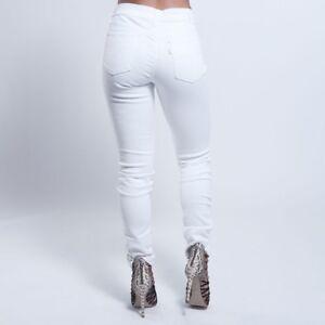 Levis 711 Skinny Mid Rise Women s White Jeans Size  30x30  52642b0c3d6e