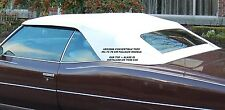 ALL GM FULL SIZE  1971-76 CONVERTIBLE TOP+DEFROSTER GLASS - WHITE VINYL
