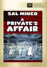 A Private's Affair 1959 (DVD) Sal Mineo, Gary Crosby, Barbara Eden - New!
