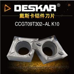 10Pcs DESKAR DCGT11T308-AL K10 DCGT32.52 CNC Carbide inserts For Copper Aluminum