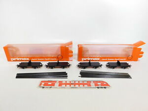 Ci993-1-2x-Primex-Marklin-h0-ac-4598-drehschemel-voiture-avec-rails-S-G-neuf-dans-sa-boite