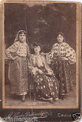 Romania CDV Photo Craiova National Costume Dress Studio Picture