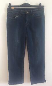 EX-Ladies-Blue-Denim-Mid-Rise-Slim-Straight-Stretchy-Cropped-Leg-Jeans-Size-6-16