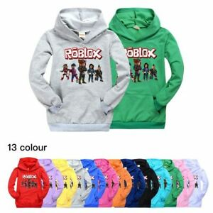 New Boys Girls Roblox Hooded Tops Kids Casual Hoodie Kids Roblox Hoodie Boys Girls Long Sleeve Hooded Pullover Tops Sweatshirt Gifts Ebay