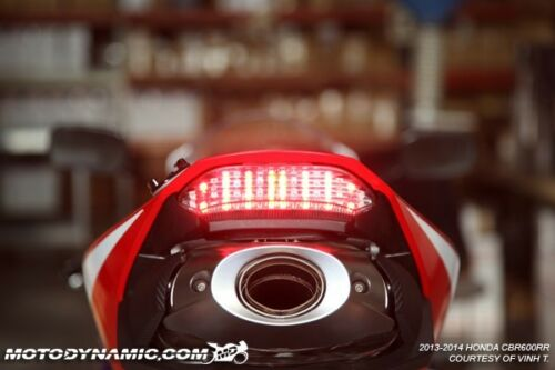 SEQUENTIAL Signal LED Tail Light Clear Fits 2013-2020 Honda CBR600RR CBR 600RR