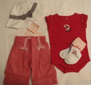 d9a890030 GYMBOREE Girls 0-3 Month Venice Sweetie Bodysuit Pants Hat Socks ...
