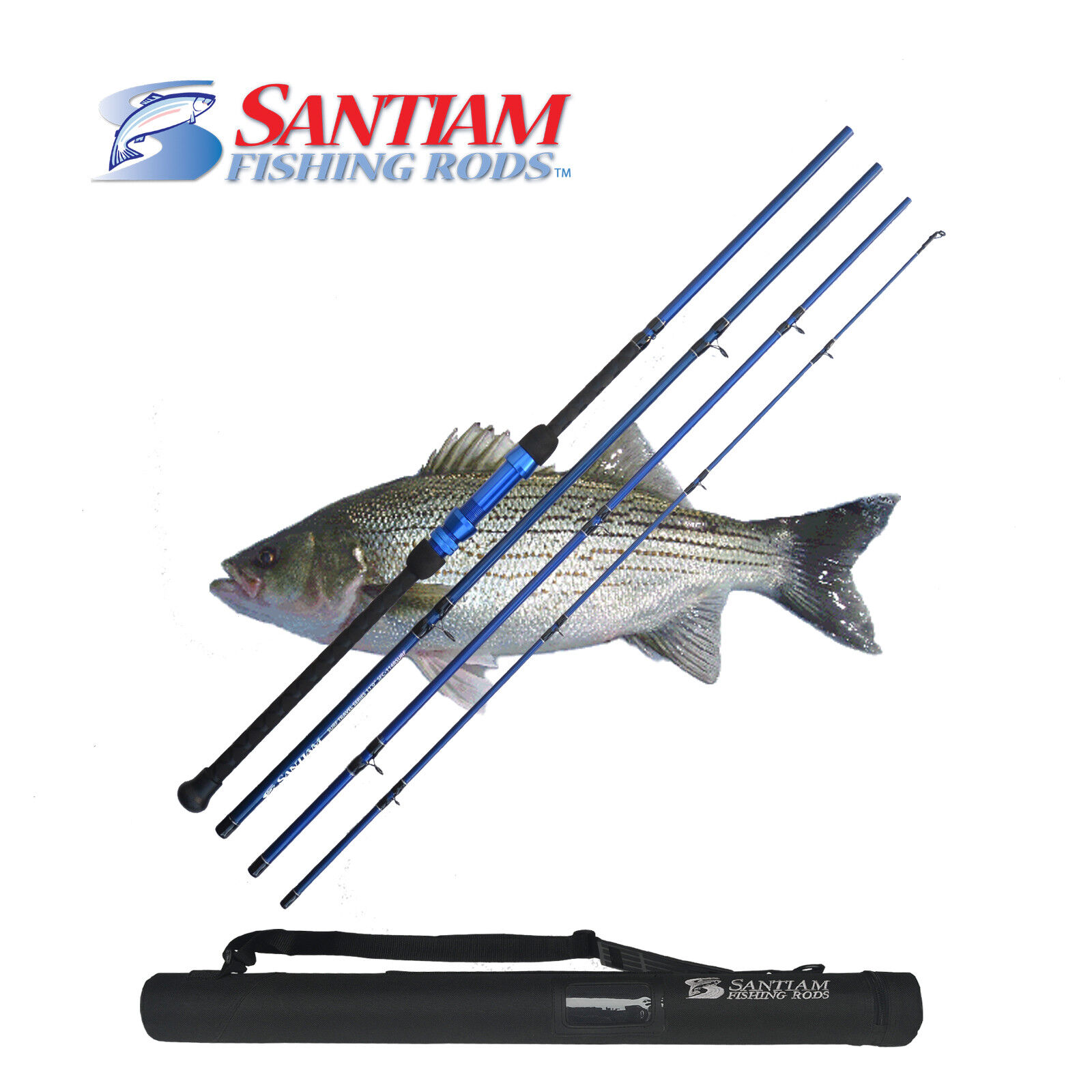 SANTIAM FISHING RODS 4 PC 11'0  17-40LB SURF  CASTING ROD ALASKAN TRAVEL SERIES  all in high quality and low price