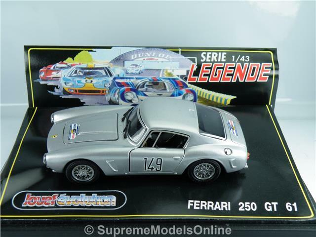 Ferrari 250 GT 61 coche modelo modelo modelo escala 1 43RD esquema de color plata ejemplo T3412Z (=) 658f69