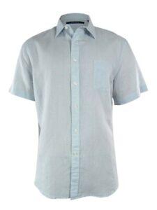 Perry-Ellis-Men-039-s-Dot-Pattern-Linen-Blend-Shirt