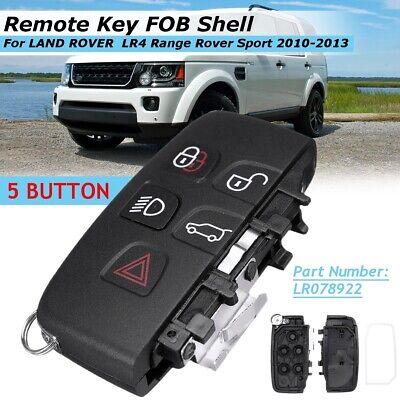 Remote Key Shell Case Fob 5 Button For Land Rover LR4 Range Rover Evoque Sport