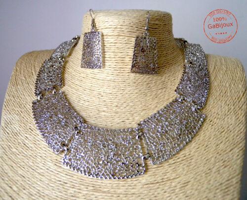 Collana Tatoo Donna Ragazza Etnica Geometrica Fiori color Argento Hipster Style