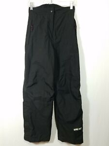 105-Meridien-Womens-Black-Gore-Tex-Ski-Snowboard-Pants-Ankle-Zipper-Size-Small