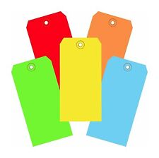 1000 Of 4 34 X 2 38 Size 5 Colored Inventory Plain Shipping Hang Tags
