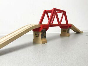 Genuine-Wooden-Brio-Stamped-Bridge-Set-33482-Compatible-with-Brio-ELC-Thomas-etc