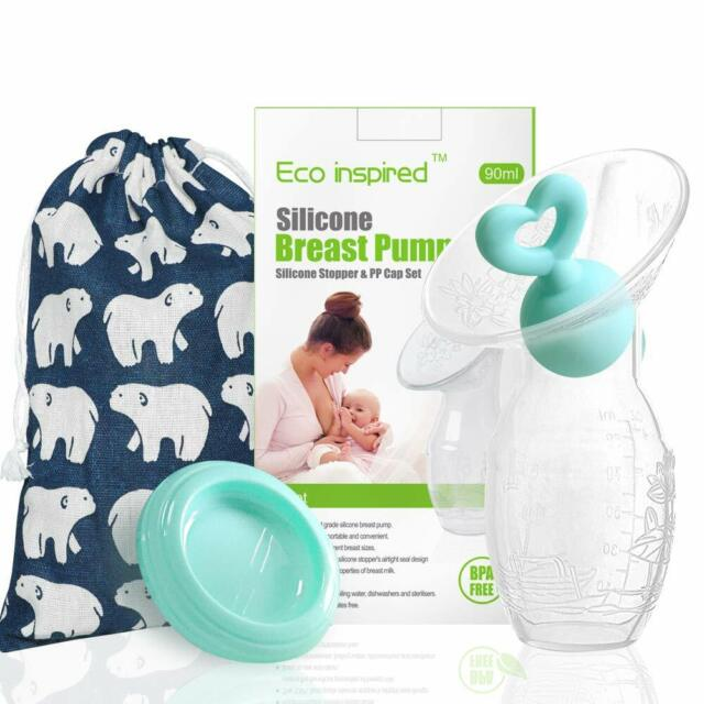 Manual Breast Pump with Green Heart Shape Silicone Stopper ...