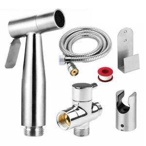 Toilette-Bidet-Spruzzatore-Acciaio-Inox-Portatile-Shattaf-Bagno-Shower
