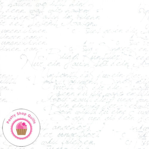 Moda MODERN BACKGROUND PAPER 1580 12 White Gray Writing ZEN CHIC Quilt Fabric
