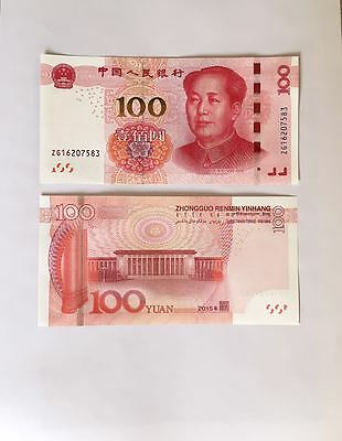 2015 CHINA 100 YUAN MAO CHINESE CURRENCY RMB MONEY BANKNOTE CIRCULATE NM MINT