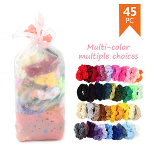 45-Pack-Hair-Scrunchies-Velvet-Scrunchy-Bobbles-Elastic-Hair-Bands-Holder-UK
