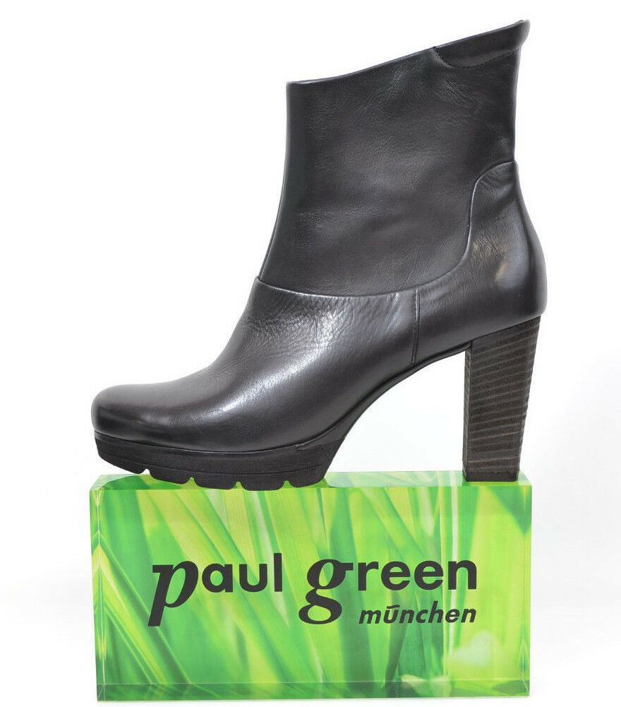 P. Grün elegante Stiefelette Stiefel schwarz Gr.40 Gr.40 Gr.40 / 6,5 schwarz Leder NEU 4b3c8f
