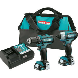 Makita-CXT-12V-Li-Ion-1-4-034-Impact-Driver-amp-3-8-034-Drill-Driver-Kit-CT226-R-Recon