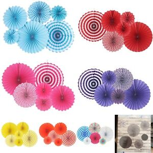 Us Seller 6pcs Paper Fan Flowers Wedding Baby Birthday Party Kids Ebay