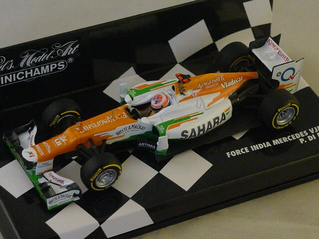 MINICHAMPS 410120011 Force India Mercedes Mercedes Mercedes VJM05 F1 GP Di Resta 2012 1/43 | Outlet Store