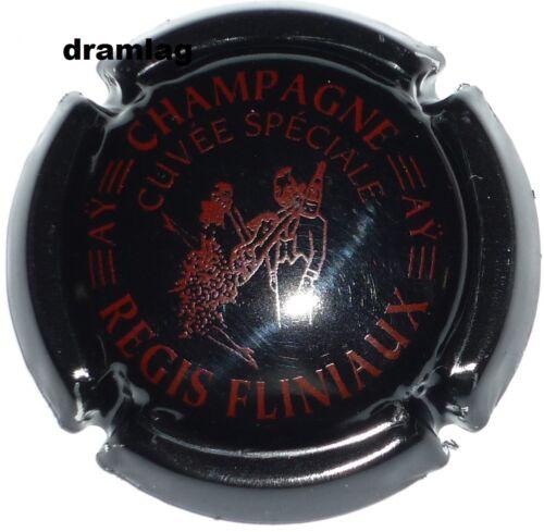 Nouvelle  FLINIAUX Régis Capsule de Champagne cuvée spéciale noir  et bord.