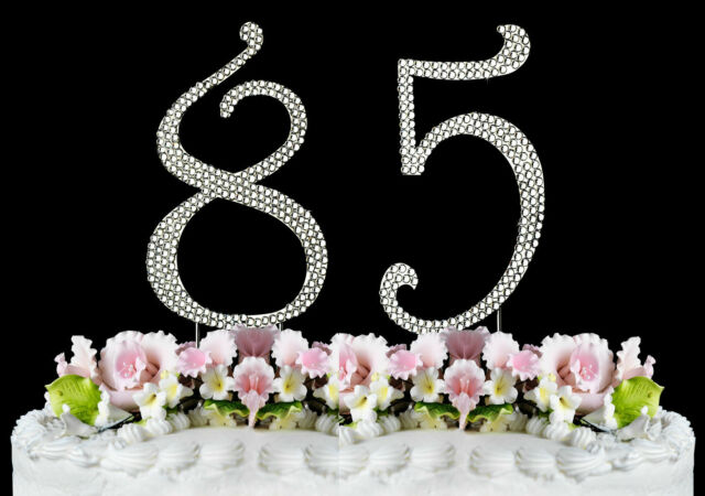 NEW Large Rhinestone NUMBER 85 Cake Topper 85th Birthday Party Anniversary