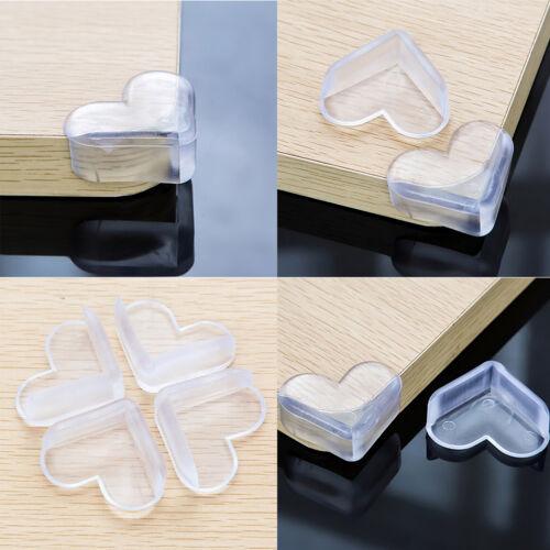 4X Kind Baby Safe Silikon Protector Tisch Herz Ecke Kantenschutz Abdeckung