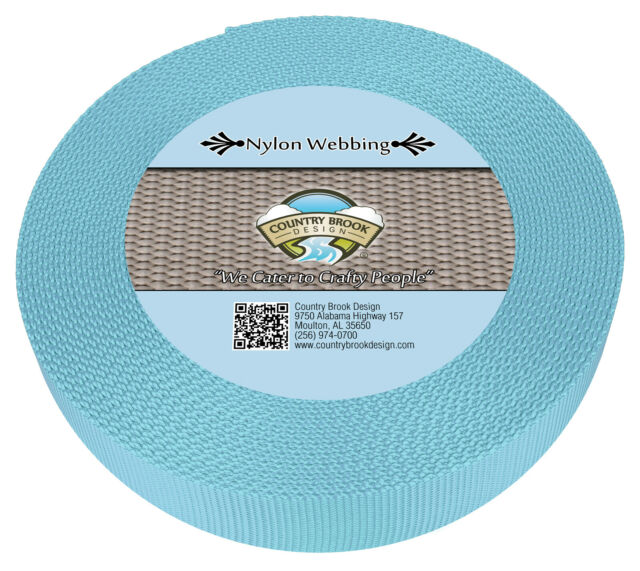 50 Yards Country Brook Design® 1 Inch Coyote Tan Lite Weight Nylon Webbing