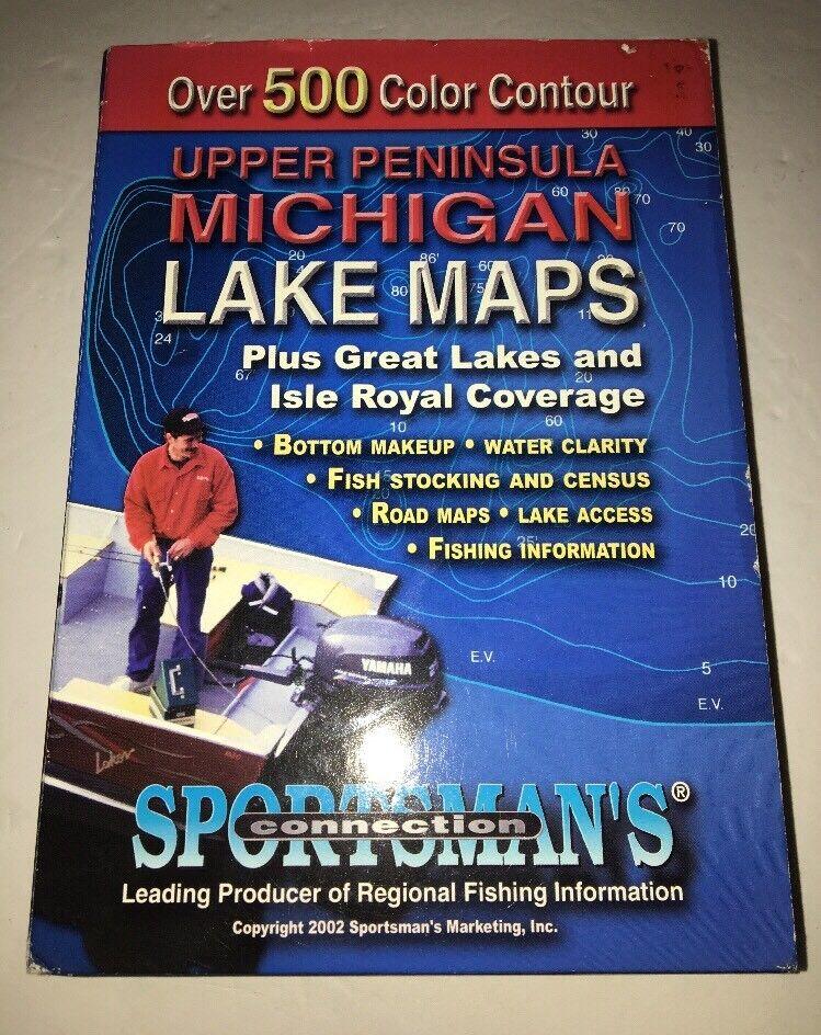 Upper península mi guía de mapas de pesca Lago CD ROM Sportsman's Conexión-Raro
