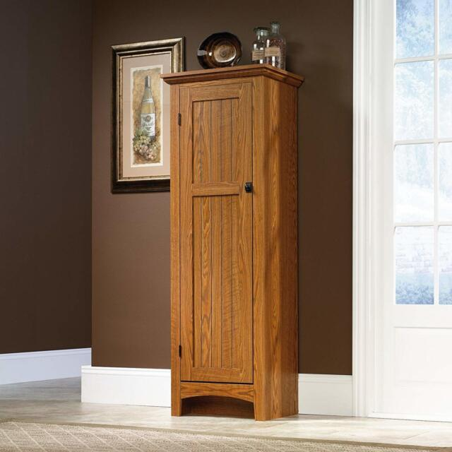 Kitchen Pantry Cabinet Free Standing Storage Food Shelves Furniture Organizer