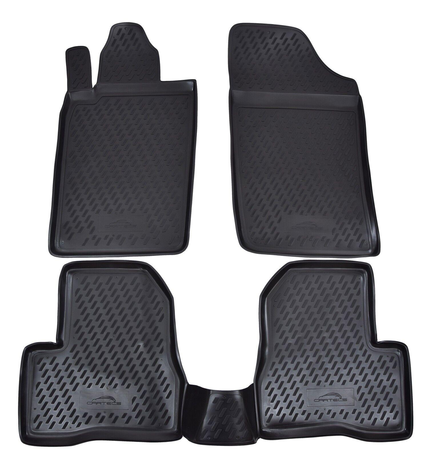 Gummifußmatten für Peugeot 206 Schrägheck Hatchback 5-türer 4tlg