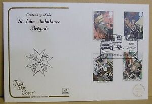 1987 Cotswold GB First Day Cover with Special Postmark   StJohn Ambulance - Cambridge, United Kingdom - 1987 Cotswold GB First Day Cover with Special Postmark   StJohn Ambulance - Cambridge, United Kingdom