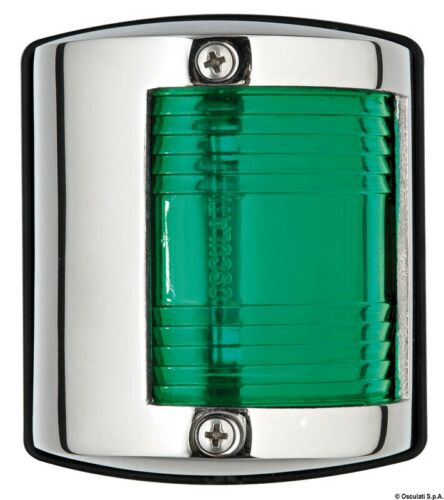 Utility 85 Navigationslicht//Navigationsleuchte VA-Stahl//112,5° grün