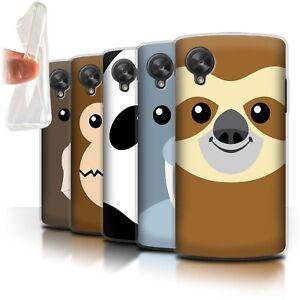 STUFF4-Gel-TPU-Case-Cover-for-LG-Google-Nexus-5-D821-Cartoon-Animal-Faces