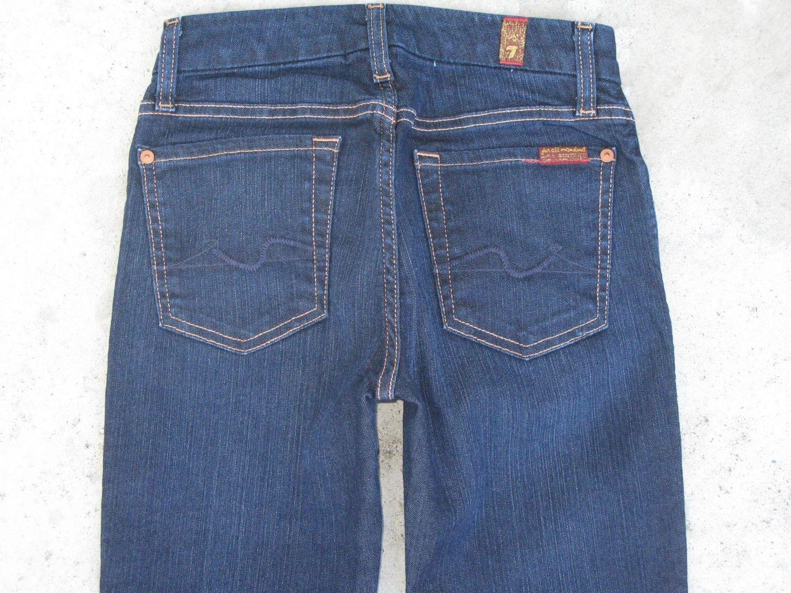 7 for all Mankind Lexie Kimmie Bootcut Jeans Sz 24 Mid Rise Dark bluee