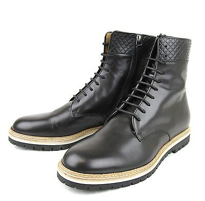 $880  New Authentic Gucci Mens Leather Lace-up Boot w/Diamante Trim, 322511 1000