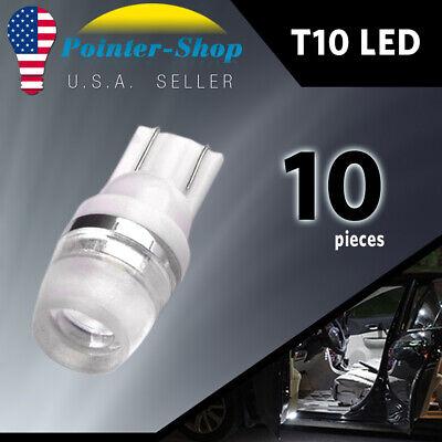 20x 6000K White 1W 2323 T10 LED Dome Map License Interior Light Bulb 192 168 194
