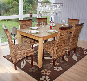 6x Dining Chairs, Wicker Chair, Chair M45, Banana braid, bright ...