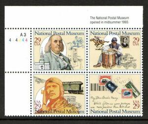 National Postal Museum 1993 cyclinder block mnh