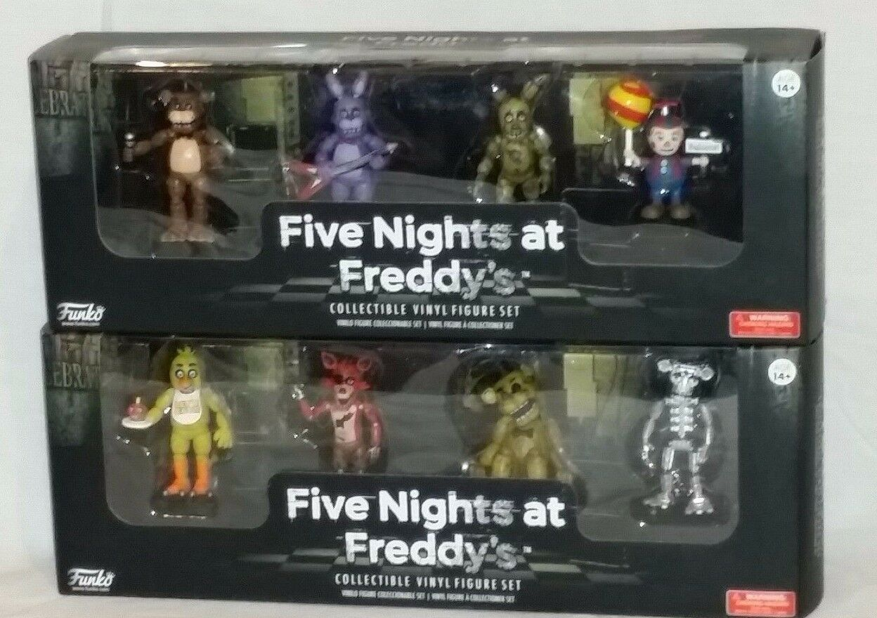 FIVE NIGHTS at FREDDY - Funko NEW misb - MINI COLLECTIBLE VINYL Figure set 1 & 2