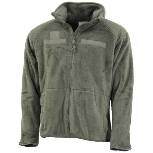 US ARMY GEN III Level 3 Polartec Fleece Veste fonction Lettre Green XLarge Regular