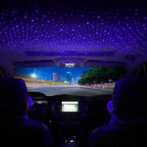 1x-USB-Voiture-SUV-Atmosphere-Ciel-etoile-Lampe-Ambiant-Star-nuit-lumiere-DEL-accessoires