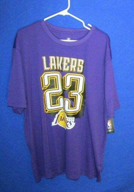 Lebron James La Los Angeles Lakers Men Jersey Tshirt 2xl Purple ...
