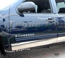 "2007-2013 GMC Sierra Crew Cab 8' Long Bed Rocker Panel Trim-12pc 6"" Wide"