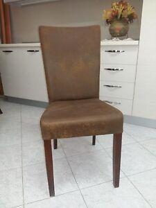 Offerte Sedie In Legno.Sedia Imbottita In Tessuto Velluto Vintage E Legno Offerta Per 4 Sedie Sedute Ebay